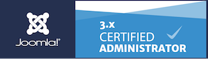 badge joomla certified administrator peter wouda