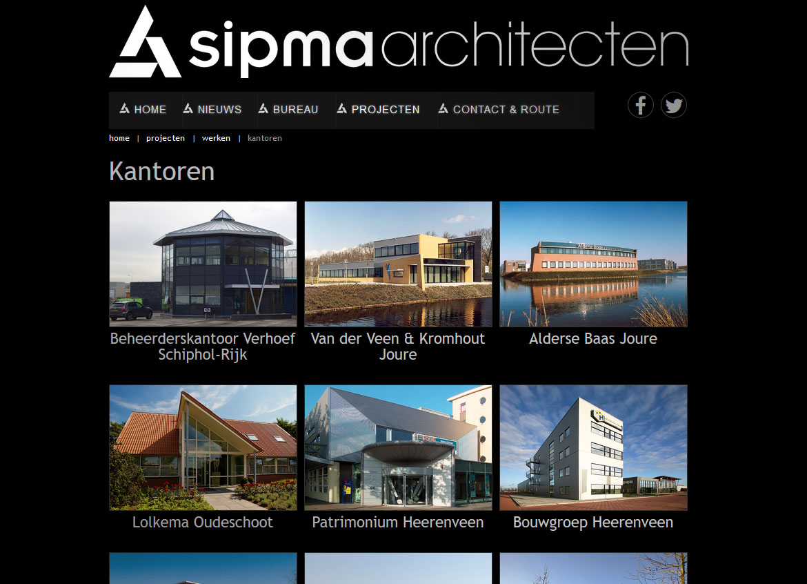 Website Architectenbureau Sipma Heerenveen